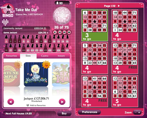 Jackpot Joy Take Me Out Bingo/bingo news