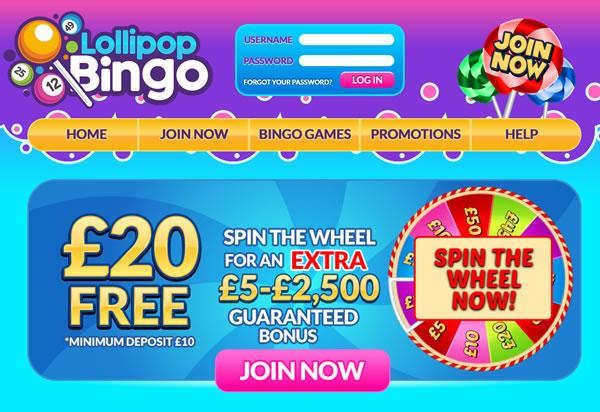 Lollipop Bingo Joins 15 Network/new bingo sites